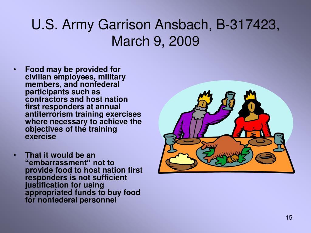 U.S. Army Garrison Ansbach, B-317423, March 9, 2009
