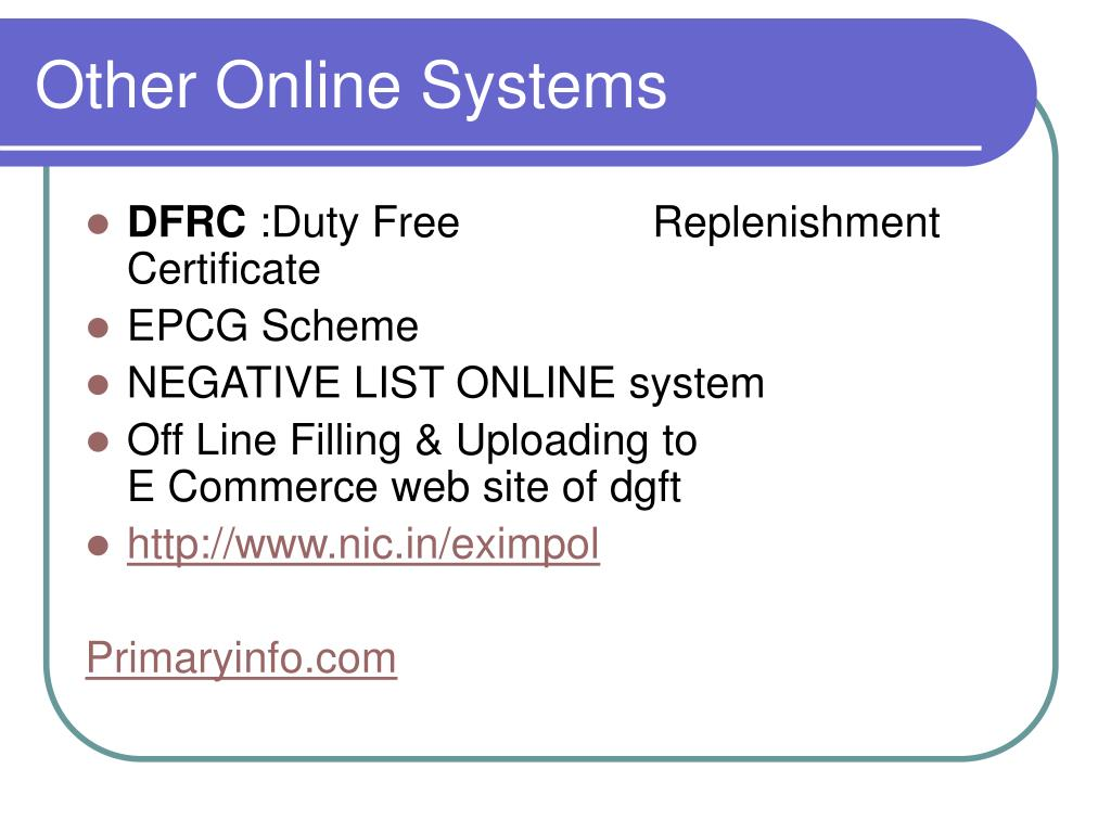 Other Online Systems