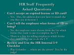 hr staff frequently asked questions