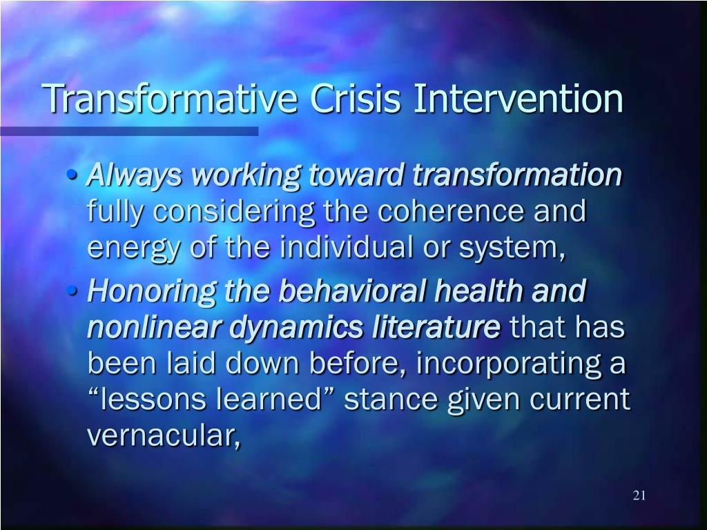 the danger and opportunity in crisis intervention