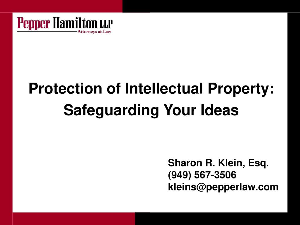 Protection of Intellectual Property: