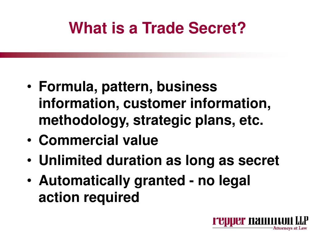 What is a Trade Secret?