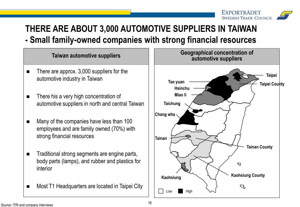 Taiwan automotive suppliers