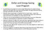 dollar and energy saving loan program