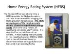 home energy rating system hers
