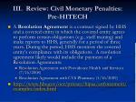 iii review civil monetary penalties pre hitech3