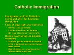 catholic immigration