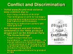 conflict and discrimination
