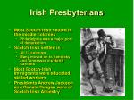 irish presbyterians