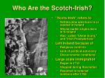 who are the scotch irish