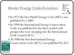 model energy code evolution