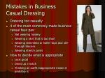 mistakes in business casual dressing
