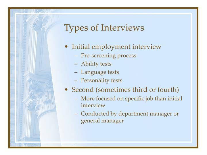 Types of interviews3