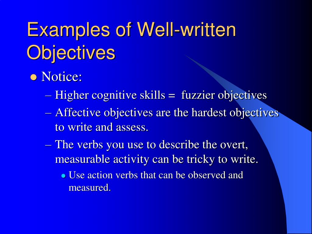 ppt  writing instructional goals and objectives