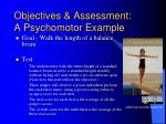 objectives assessment a psychomotor example15