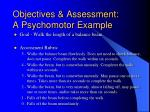 objectives assessment a psychomotor example16