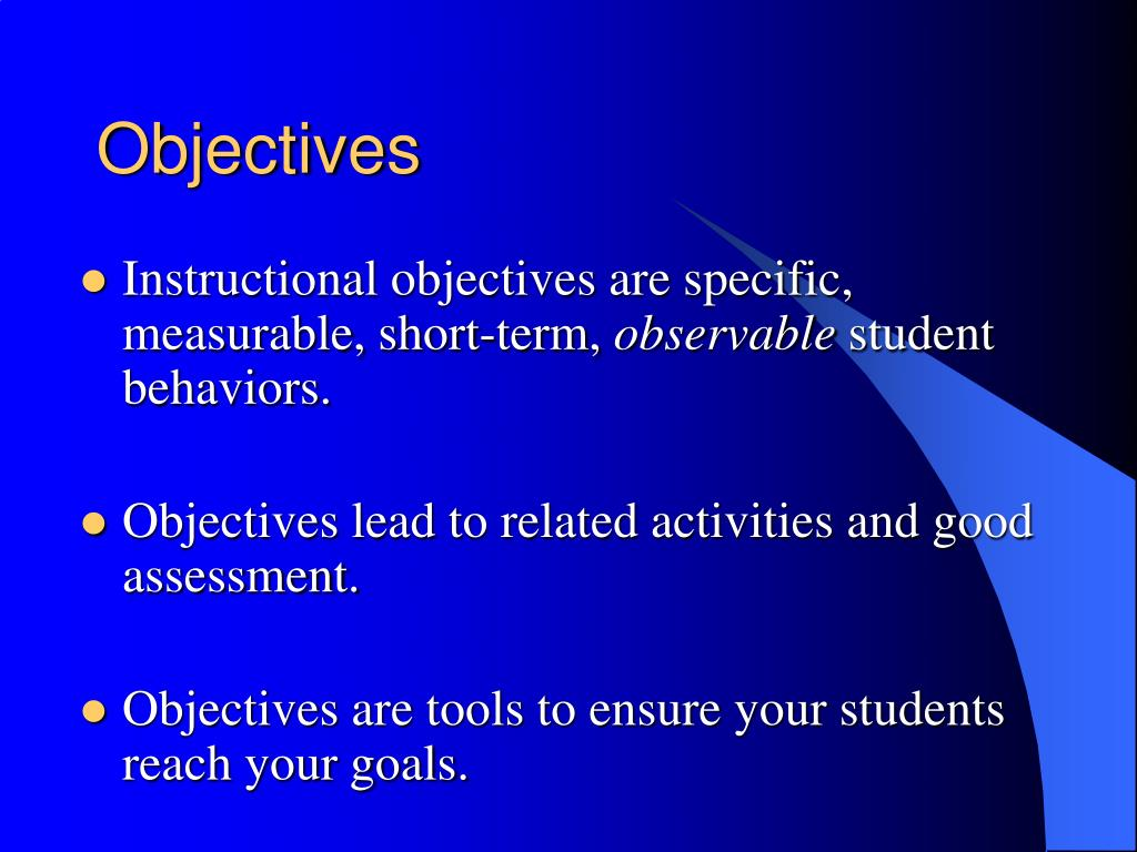 far reaching objectives essay Goals have far-reaching time frames, and are often more vague than objectives they are more generic, indicating an overall outcome rather than measurable specifics objectives on the other hand, are concrete and short term occurrences that ultimately support the goal.