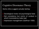 cognitive dissonance theory25