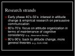 research strands