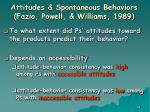attitudes spontaneous behaviors fazio powell williams 198963
