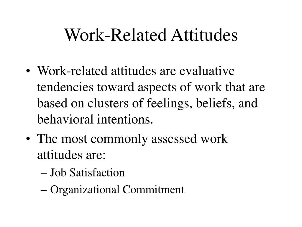 work related attitudes l.