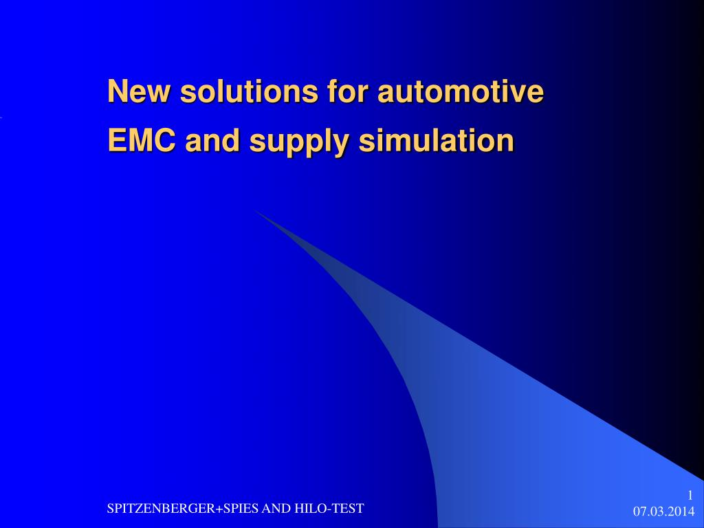 new solutions for automotive emc and supply simulation l.
