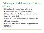 advantages of multi attribute attitude models