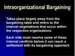 intraorganizational bargaining