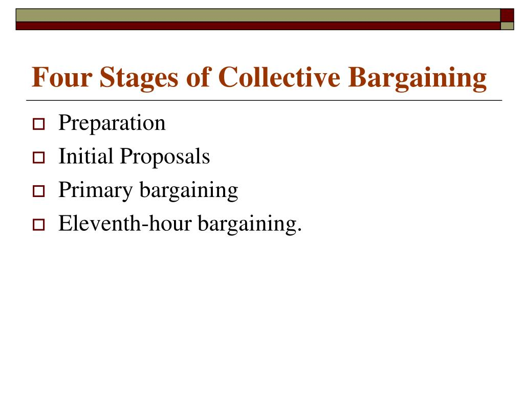 Four Stages of Collective Bargaining