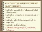 what are the salient features about aitudes