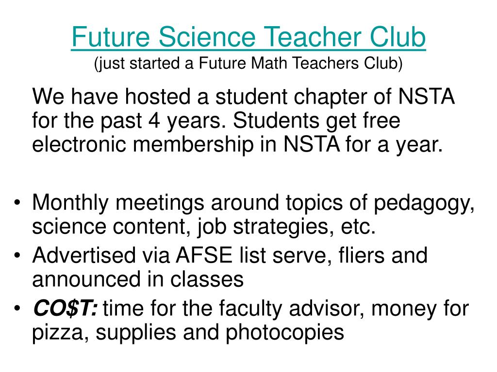 Future Science Teacher Club