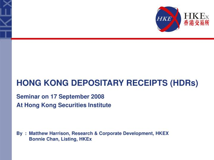 by matthew harrison research corporate development hkex bonnie chan listing hkex n.