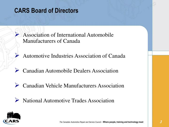 Cars board of directors