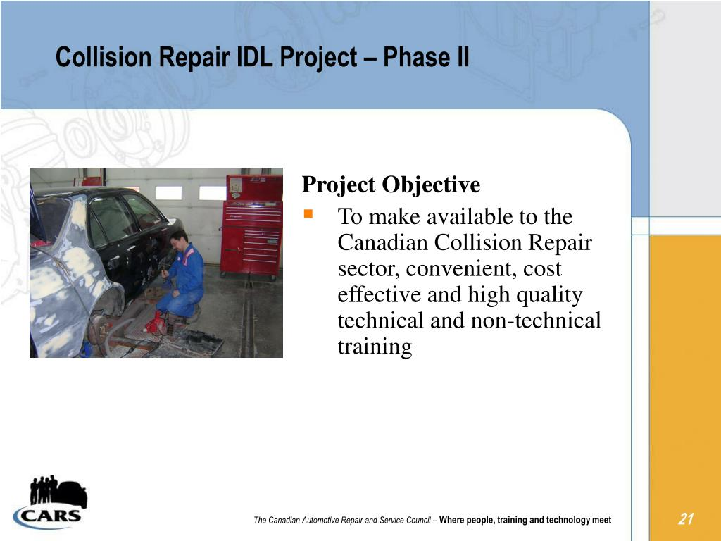 Collision Repair IDL Project – Phase II