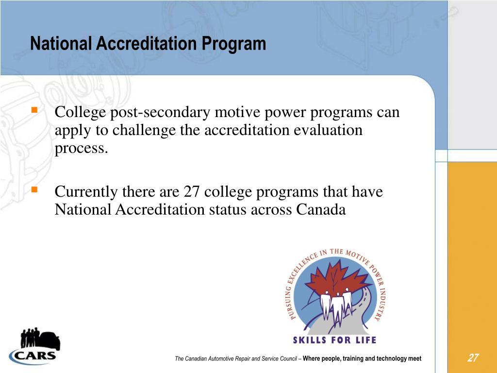National Accreditation Program
