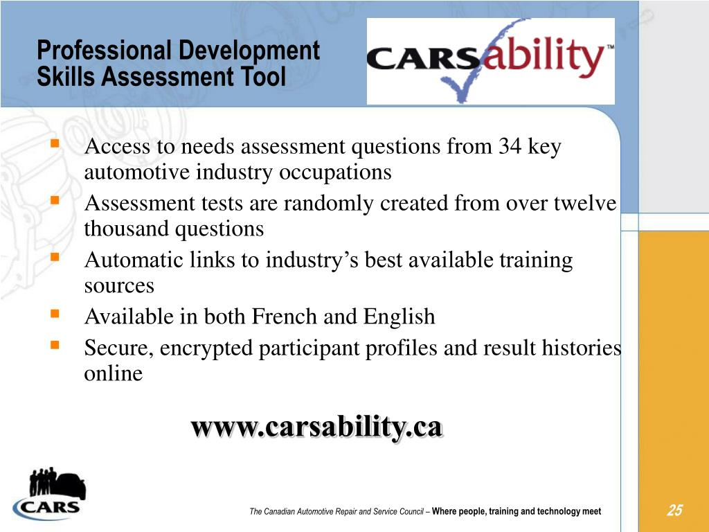 Professional Development Skills Assessment Tool