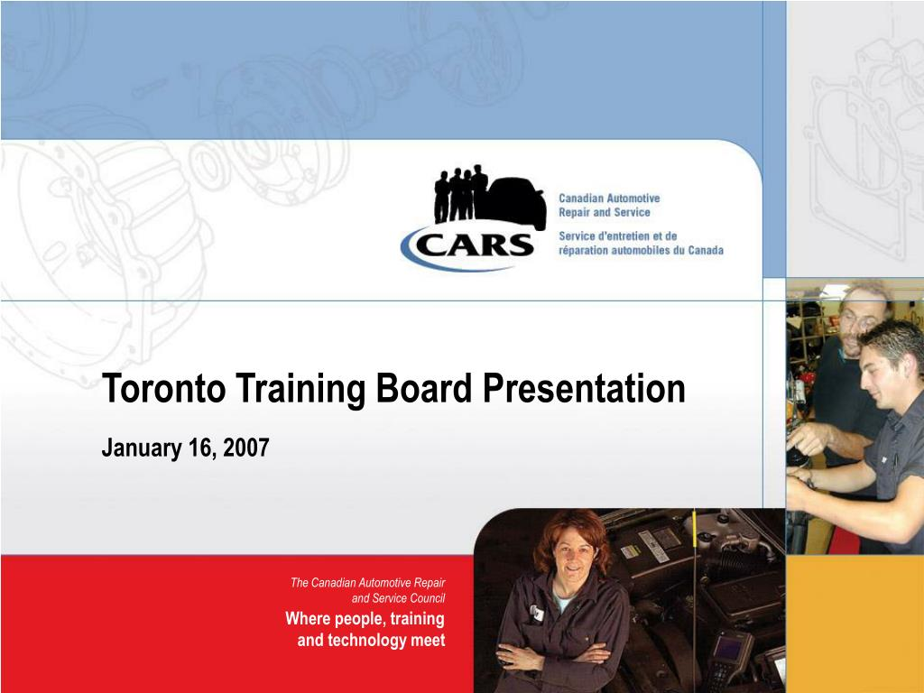 toronto training board presentation l.