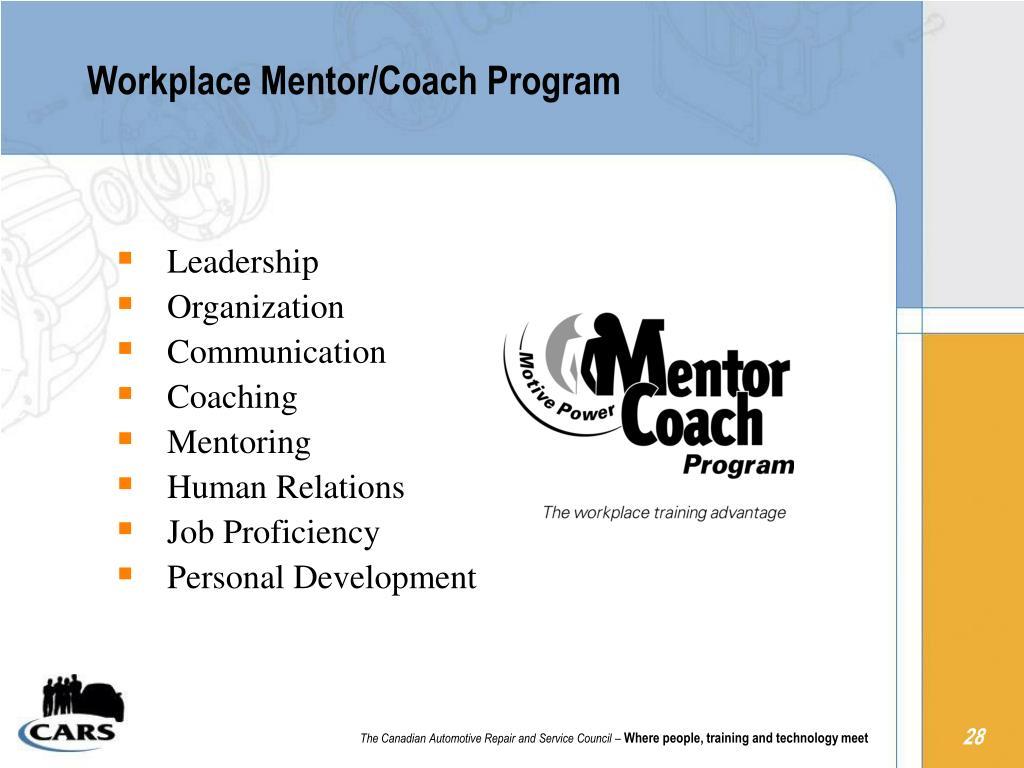 Workplace Mentor/Coach Program