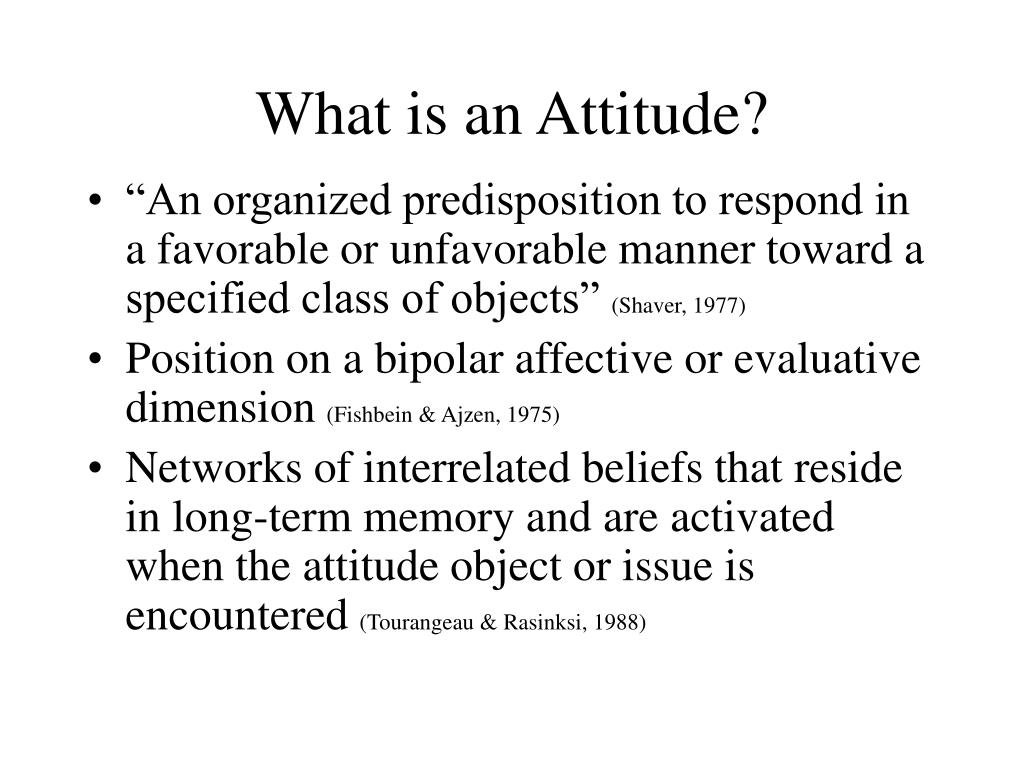 what is an attitude l.