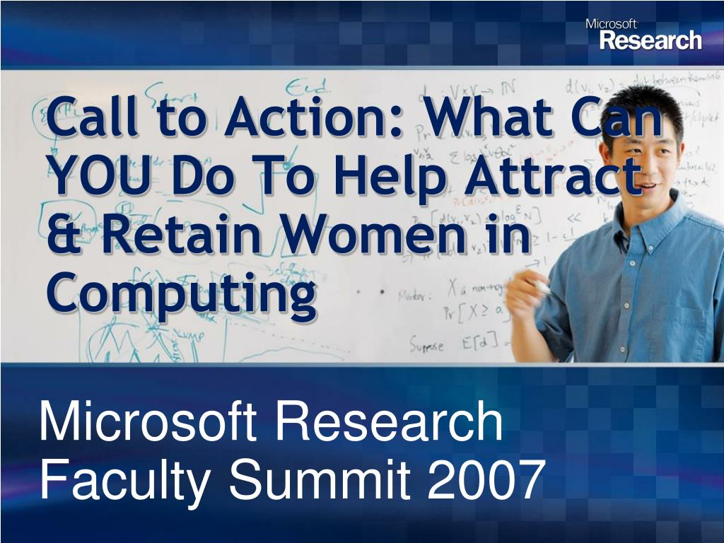 call to action what can you do to help attract retain women in computing l.
