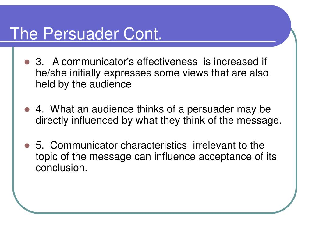 The Persuader Cont.