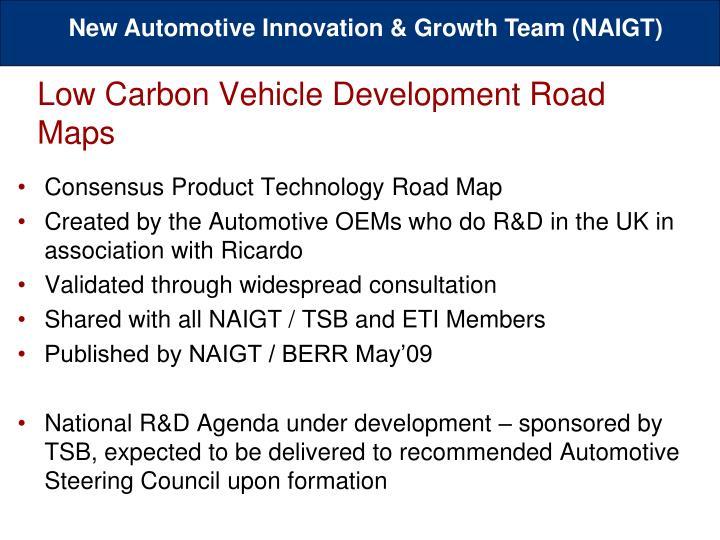 Low Carbon Vehicle Development Road Maps
