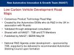 low carbon vehicle development road maps