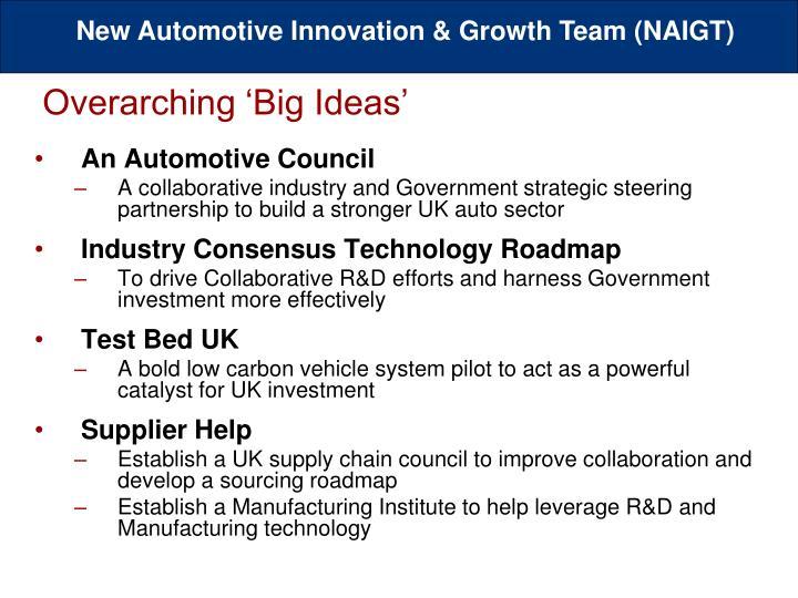 Overarching 'Big Ideas'