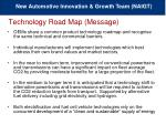 technology road map message