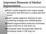 important elements of market segmentation