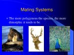 mating systems85