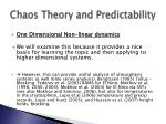 chaos theory and predictability12