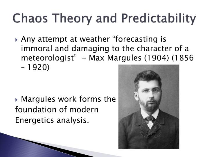 Chaos theory and predictability3