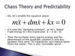 chaos theory and predictability34